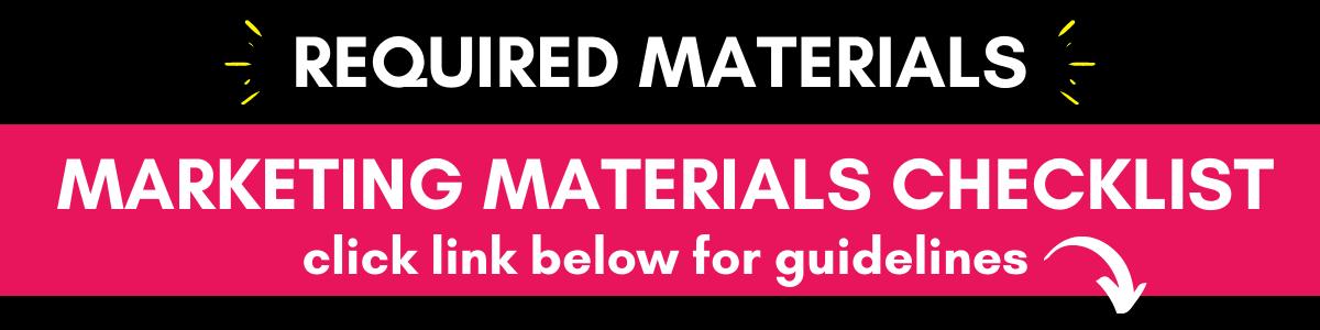 Marketing Materials Checklist
