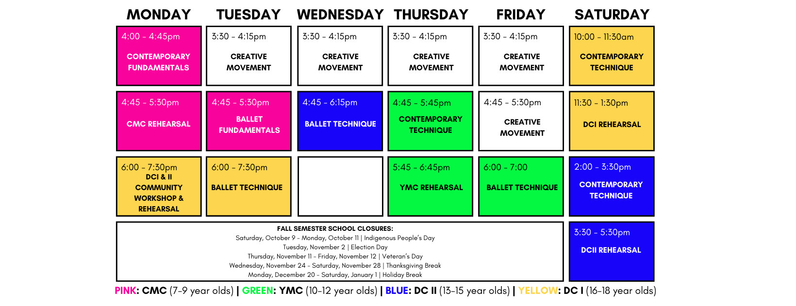Company Schedule
